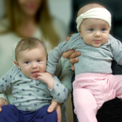 Two little cuties came to visit Loma Linda University Center for Fertility