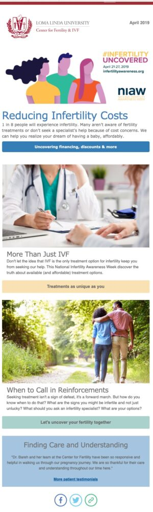 April E-Newsletter | Loma Linda University Center for Fertility & IVF | Loma Linda, CA