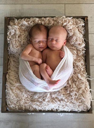 Twins in basket | Loma Linda University Center for Fertility & IVF