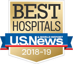 U.S. News & World Report Best Hospital 2018-19 logo | LLU Center for Fertility