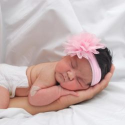 Baby photo album | Loma Linda Center for Fertility | Baby with headband