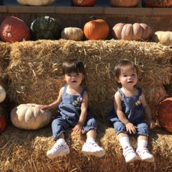 Baby photo album | Loma Linda Center for Fertility | Babies in pumpkin patch