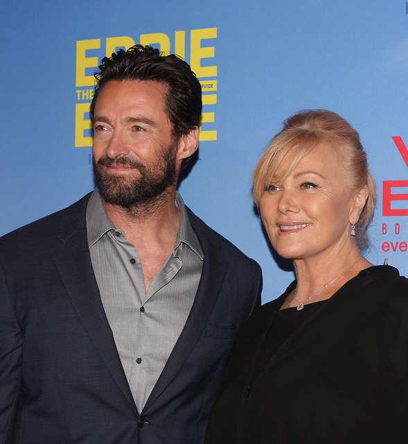 Advanced Maternal Age & Celebrity Pregnancies | LLU Center for Fertility & IVF | Hugh Jackman with his wife, Deborra-Lee Furness